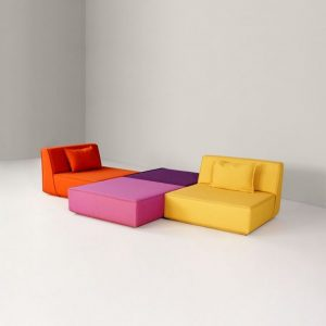 Canapé modulable multicolore