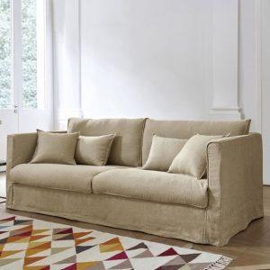 Canapé en lin lavé